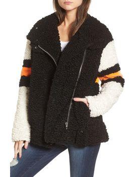 stripe-faux-shearling-jacket by blanknyc