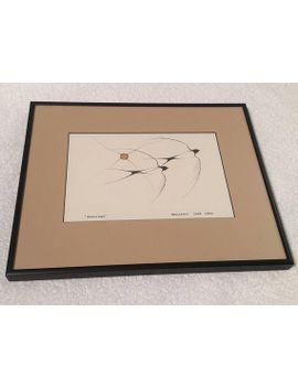 benjamin-chee-chee,-swallows-print,-framed-art,-native-artist,-woodland-indian-art-card-series by etsy