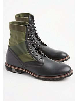 faux-suede-combat-boots by rue21