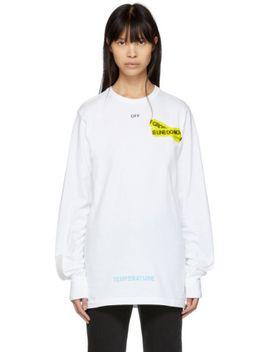 white-long-sleeve-firetape-t-shirt by off-white