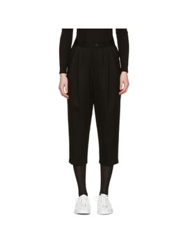 black-pleated-wool-trousers by comme-des-garÇons