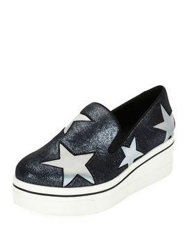 binx-stars-glittered-loafer,-blue by stella-mccartney