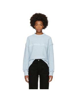 blue-logo-sweatshirt by eckhaus-latta