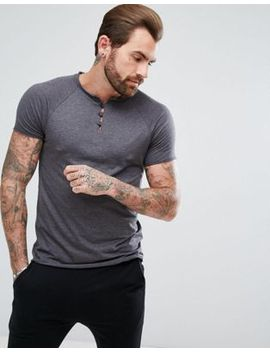 asos-t-shirt-with-grandad-neck-and-raglan-sleeves by asos