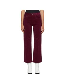 burgundy-corduroy-cropped-trousers by marc-jacobs