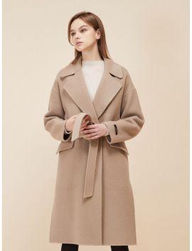 light-beige-oversize-handmade-coat by lookast