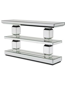 alico-michael-amini-montreal-mirrored-3-tier-console-table by michael-amini