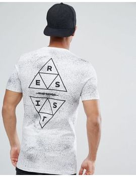 asos-longline-muscle-t-shirt-with-splatter-and-triangle-print by asos