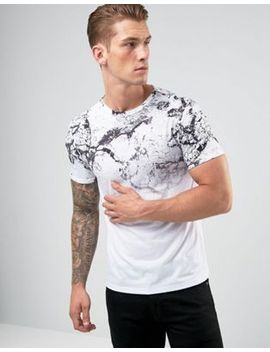 river-island-muscle-fit-t-shirt-in-marble-fade-print by river-island