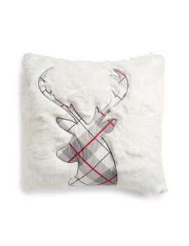 plaid-reindeer-pillow by levtex