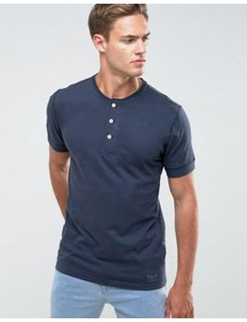 abercrombie-&-fitch-henley-t-shirt-slim-fit-garment-dye-in-navy by abercrombie-&-fitch