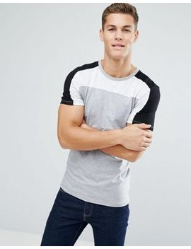 asos-muscle-t-shirt-with-colour-block-in-interest-fabric by asos