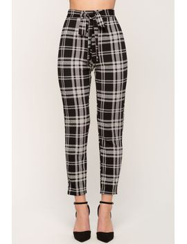 kaylee-plaid-tie-front-trouser by agaci