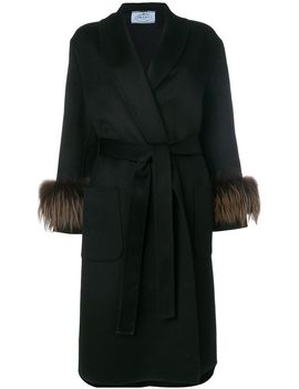 fox-fur-trimmed-coat by prada