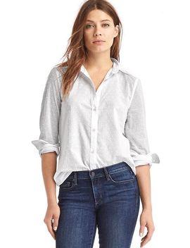 new-fitted-boyfriend-swiss-dot-shirt by gap