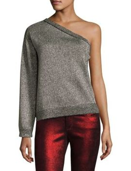 one-shoulder-metallic-sweater by rta