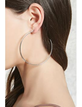 cutout-hoop-drop-earrings by forever-21