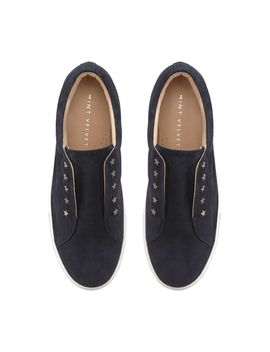 lila-navy-star-suede-trainers by mint-velvet
