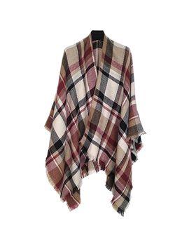 altare-multi-color-plaid-woven-ruana-shawl-wrap by boscovs