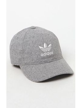 gray-relaxed-strapback-dad-hat by adidas
