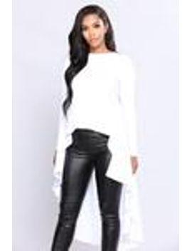 start-the-fire-top---white by fashion-nova