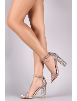 bamboo-glitter-ankle-strap-single-sole-chunky-heels by urbanog