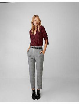 slim-fit-red-plaid-portofino-shirt by express