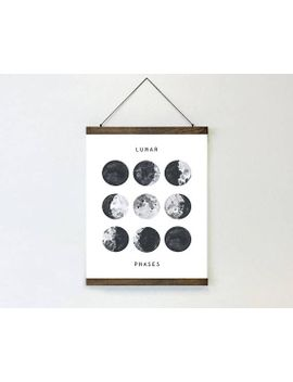 """printable-lunar-phases-wall-print,-moon-phase-print,-full-moon-print,-new-moon,-crescent-moon,-lunar-phase-wall-art,-moon-phase-poster-8x10"""" by etsy"""