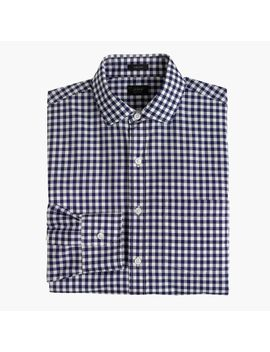 tall-ludlow-slim-fit-spread-collar-shirt-in-navy-gingham by jcrew
