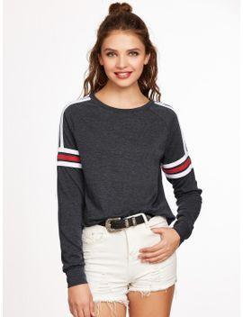 varsity-striped-raglan-sleeve-sweatshirt by makemechic
