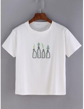 white-bottle-print-short-sleeve-t-shirt by makemechic