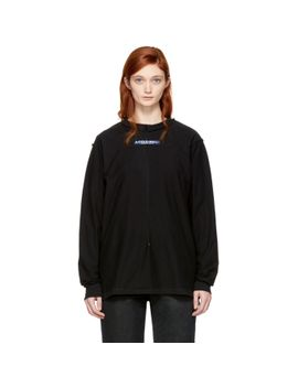 black-long-sleeve-high-performance-window-t-shirt by a-cold-wall*