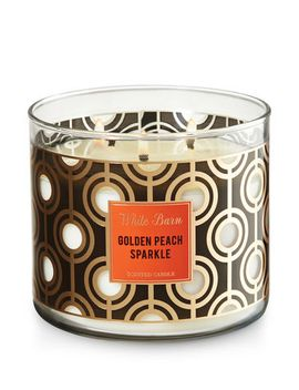 golden-peach-sparkle   3-wick-candle--- by bath-&-body-works