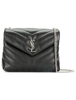 monogram-loulou-ysl-monogram-small-chain-black-leather-shoulder-bag by saint-laurent