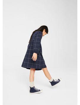 checked-cotton-dress by mango