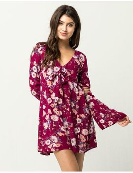 socialite-bell-sleeve-tie-front-dress by socialite