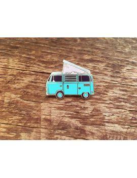 camper-van-enamel-pin,-explore-pin,-volkswagen-bus,-westfalia,-single-hard-enamel-pin-with-butterfly-clutch by etsy