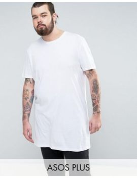 asos-plus-super-longline-t-shirt-with-crew-neck by asos