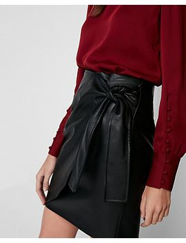 (minus-the)-leather-high-waisted-wrap-front-skirt by express