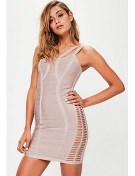 pink-strappy-bandage-dress by missguided