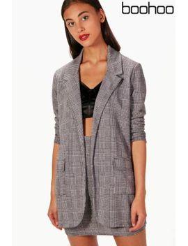 boohoo-check-tailored-blazer by next