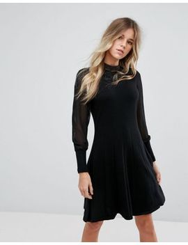 oasis-lace-collar-sweater-dress by oasis