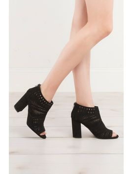 changed-behaviours-suede-bootie by akira