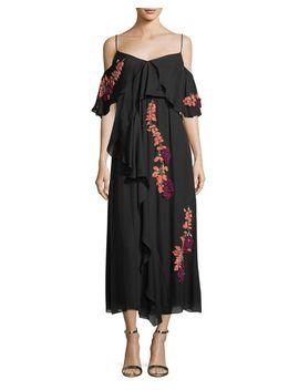 lorena-wisteria-sequins-sleeveless-draped-midi-dress by tanya-taylor