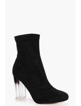wide-fit-clear-heel-sock-boots by boohoo
