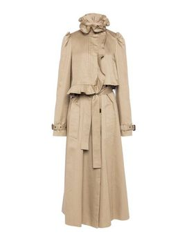 mara-shearling-trimmed-trench-coat---natural by preen-by-thornton-bregazzi