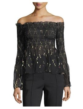 agra-off-the-shoulder-top-with-metallic by alc