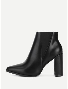 back-block-heeled-pu-ankle-boots by sheinside