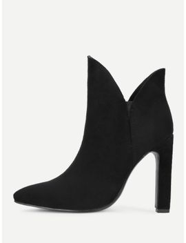 v-cut-design-high-heeled-ankle-boots by sheinside