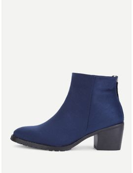 block-heeled-almond-toe-ankle-boots by sheinside